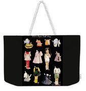 Paper Doll Amy Weekender Tote Bag by Marilyn Smith