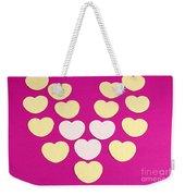 Paper Hearts Weekender Tote Bag