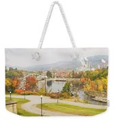 Paper Mill And Fall Colors In Rumford Maine Weekender Tote Bag