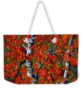 Paper White Birch Reflections Weekender Tote Bag