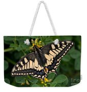 Papilio Machaon Butterfly Sitting On The Lucerne Plant Weekender Tote Bag