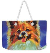 Papillion Puppy Weekender Tote Bag