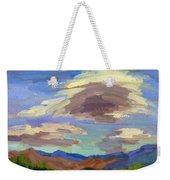 Papoose Lake And Clouds Weekender Tote Bag