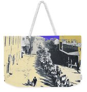Parade Honoring General Nelson A. Miles  11-08-1887 Geronimo's Capture Tucson Color Added 2008 Weekender Tote Bag