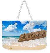 Paradise Beach Sign Algarve Portugal Weekender Tote Bag