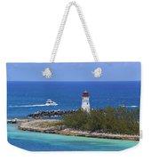 Paradise Island Lighthouse Weekender Tote Bag