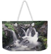Paradise River Cascade Mt Rainier Weekender Tote Bag