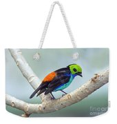 Paradise Tanager Weekender Tote Bag