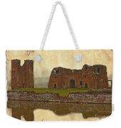 Parchment Texture Kirby Muxloe Castle Weekender Tote Bag