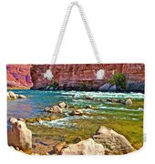 Pariah Riffle Near Lee's Ferry In Glen Canyon National Recreation Area-arizona Weekender Tote Bag