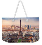 Paris At Sunset Weekender Tote Bag