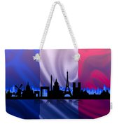 Paris City Weekender Tote Bag