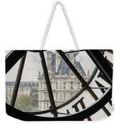 Paris Clock Weekender Tote Bag