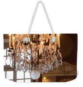 Paris Crystal Chandelier - Paris Rodin Museum Chandelier - Sparkling Crystal Chandelier Reflection Weekender Tote Bag