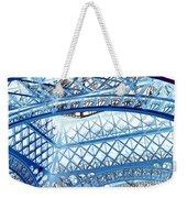 Paris Design In Blue Weekender Tote Bag
