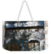 Paris Guerlain Storefront Boutique - Paris Guerlain Blue Door Art Nouveau Art Deco Door Weekender Tote Bag