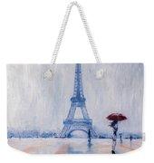 Paris In Rain Weekender Tote Bag