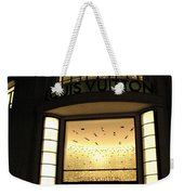 Paris Louis Vuitton Boutique Store Front - Paris Night Photo Louis Vuitton - Champs Elysees  Weekender Tote Bag