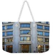 Paris Louis Vuitton Fashion Boutique - Louis Vuitton Designer Storefront In Paris Weekender Tote Bag