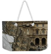 Paris - Louvre Reflecting In The Pyramid  Weekender Tote Bag