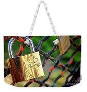 Paris Love Lock Weekender Tote Bag