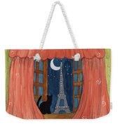 Paris Moonlight Weekender Tote Bag