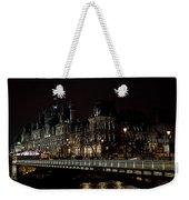 Paris Night Along The Seine Weekender Tote Bag