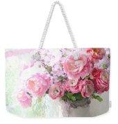Paris Peonies Roses Shabby Chic Art - Romantic Paris Peonies And Roses Impressionistic Floral Art Weekender Tote Bag