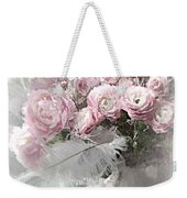 Paris Pink Impressionistic French Roses And Ranunculus - Shabby Chic Romantic Pink Flowers Weekender Tote Bag