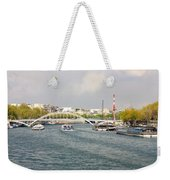 Paris River Cityscape Weekender Tote Bag