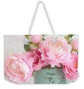 Paris Peonies Shabby Chic Dreamy Pink Peonies Romantic Cottage Chic Paris Peonies Floral Art Weekender Tote Bag