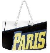 Paris Sign Weekender Tote Bag
