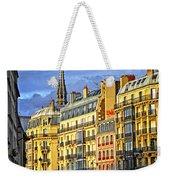 Paris Street At Sunset Weekender Tote Bag by Elena Elisseeva