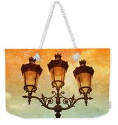 Paris Street Lamps With Textures And Colors Weekender Tote Bag
