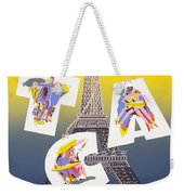 Paris Vintage Travel Poster Weekender Tote Bag