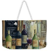 Paris Wine Tasting Weekender Tote Bag by Marilyn Dunlap