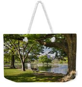 Park Bench By A Lake Weekender Tote Bag