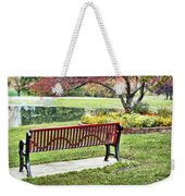 Park Bench By The Pond Weekender Tote Bag