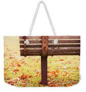 Park Bench In Autumn Weekender Tote Bag by Edward Fielding