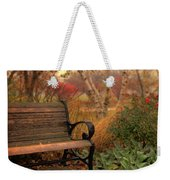 Park Bench In Autumn Weekender Tote Bag