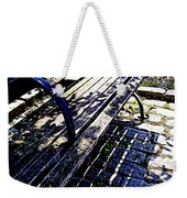 Park Bench With Flowers Weekender Tote Bag