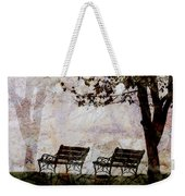 Park Benches Square Weekender Tote Bag