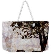 Park Benches Square Weekender Tote Bag by Carol Leigh