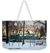 Park In Winter Weekender Tote Bag