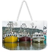 Parked Fishing Boats Weekender Tote Bag
