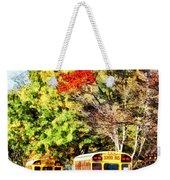 Parked School Buses Weekender Tote Bag