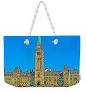 Parliament Building In Ottawa-on Weekender Tote Bag
