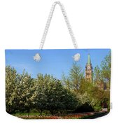 Parliament Building Seen From A Garden Weekender Tote Bag