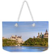 Parliament Buildings And The Fairmont Weekender Tote Bag