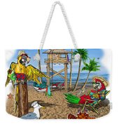 Parrot Beach Party Weekender Tote Bag
